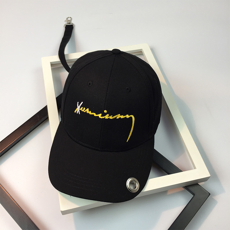 7a4c0b41083 New Dad Hat Fashion The Rapper Embroidered Letter Long Strap Ring Buckle  Hip Hop Women Men Black Adjustable Trucker Bones-in Baseball Caps from  Apparel ...