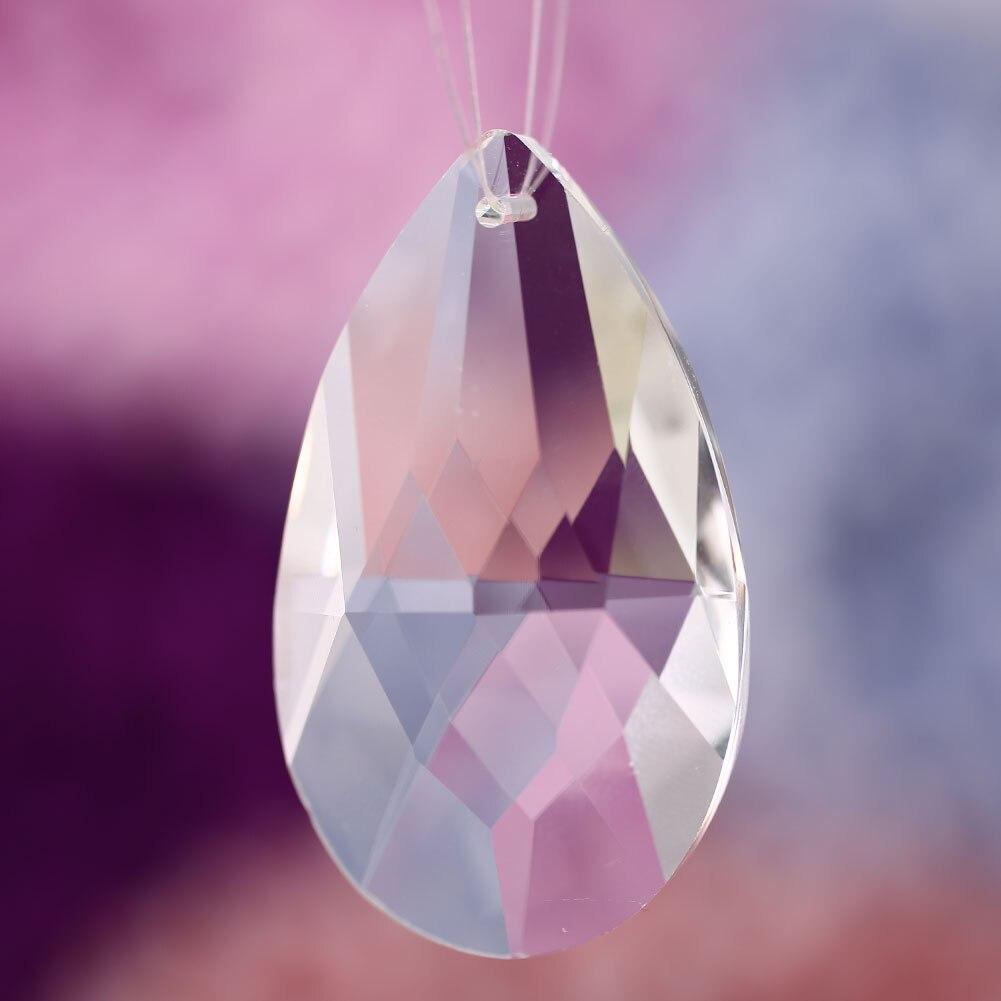 50 мм Ангел слезы кулон в форме капли воды для хрустальной лампы свадебное украшение Рождественский искусственный кристалл подвесной светильник поставка