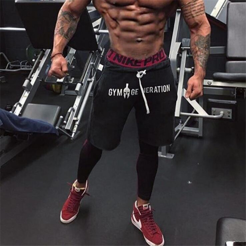 2019 Men's Casual Summer   Shorts   Sexy Sweatpants Male Fitness Bodybuilding Workout Man Fashion Jogger   Short   pant Brand Clothing
