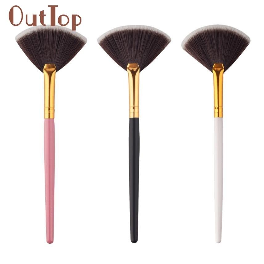1 Unid En Forma de Abanico universal maquillaje Colorete Cepillado Cepillo de So