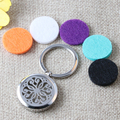 316L Stainless Steel Essential Oils Diffuser Keychain Magnetic Chrysanthemum Aromatherapy Jewelry