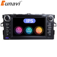 Eunavi Octa Core 7'' Android 8.0 2 din Car DVD Player For Toyota Auris 2007 2008 2009 Radio GPS Navigation Radio Stereo wifi USB