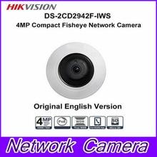 Free shipping Hikvision DS-2CD2942F-IWS 4MP POE Wi-Fi PTZ View Fisheye CCTV Network Camera Fisheye IP Camera