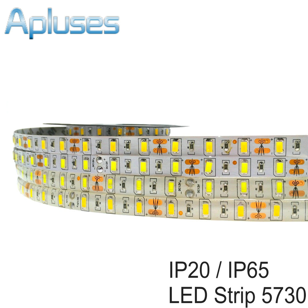 Tira de LED SMD 5730 IP65 impermeable 5M / 300LED DC12V LED flexible Luz blanca / blanco cálido