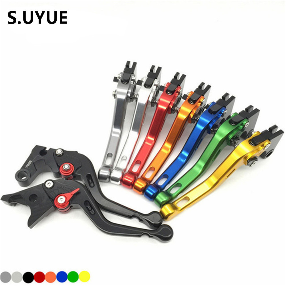 For Yamaha R6 2005 - 2016 CNC Short Adjustable Clutch Brake Levers 8 colors 2006 2007 2008 2009 2010 2011 2012 2013 2014 2015 2016 cnc pivot dirt bike adjustable clutch brake levers for yamaha yz250fx 2015 2016 yz426f 450f 2009 2016 yz250f 2009 2016 2015