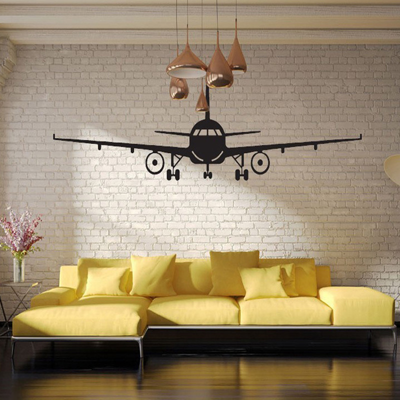 Large Size 3d Art Poster Airplane Wall Stickers for Living Room Bedroom Kids room Decoration Vinyl Home Decor Wall Decals image