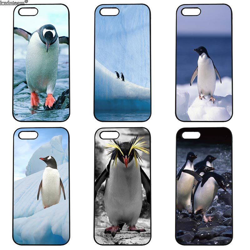 Cute Penguin Cell Phone Case Hard Anti-knock Half Cover Fitted for iphone 8 7 6 6S Plus X 5S 5C 5 SE 4 4S iPod Touch 4 5 6 Sehll