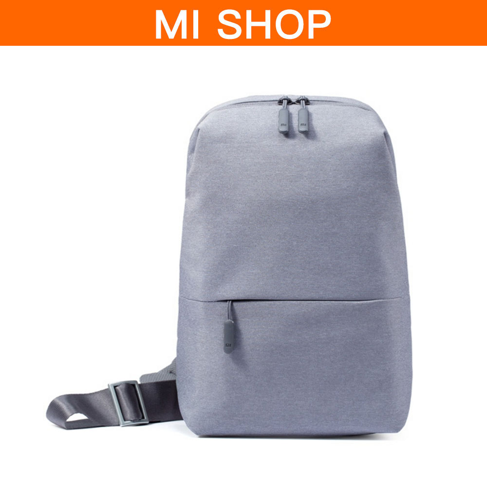 Original Xiaomi 4L Capacity Chest Pack Backpack Shoulder Type Unisex polyester Material Smooth Draw Cord Zippers Design