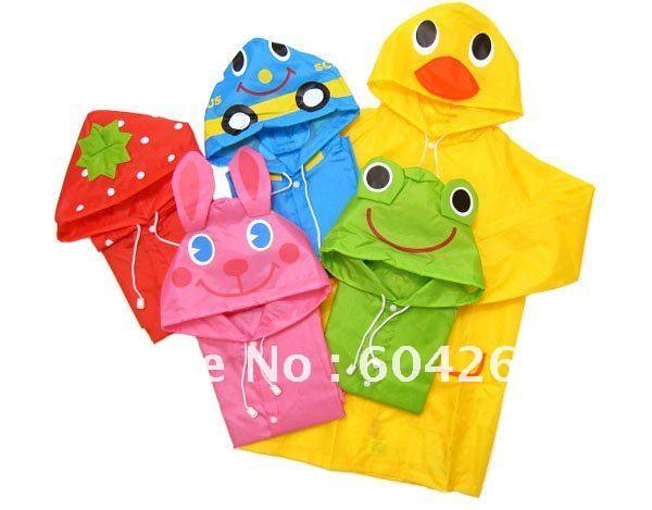 Дети пальто дождя, детский плащ, дождевик/дождевик, Детский водонепроницаемый плащ для животных, 5 шт./партия
