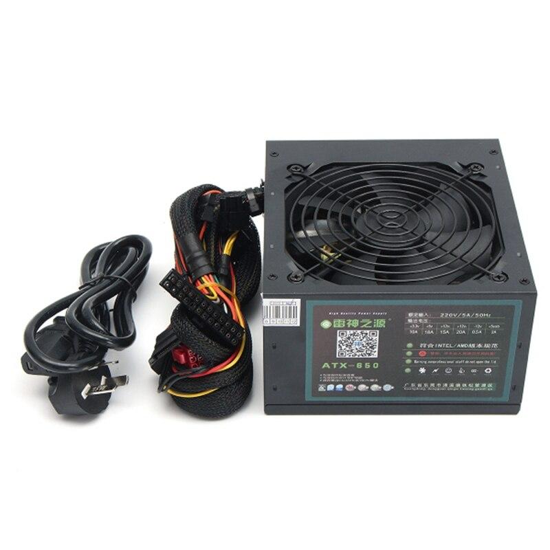 AU Plug MAX 650W PSU ATX 12V Gaming PC Power Supply 24Pin Molex Sata 650 Walt