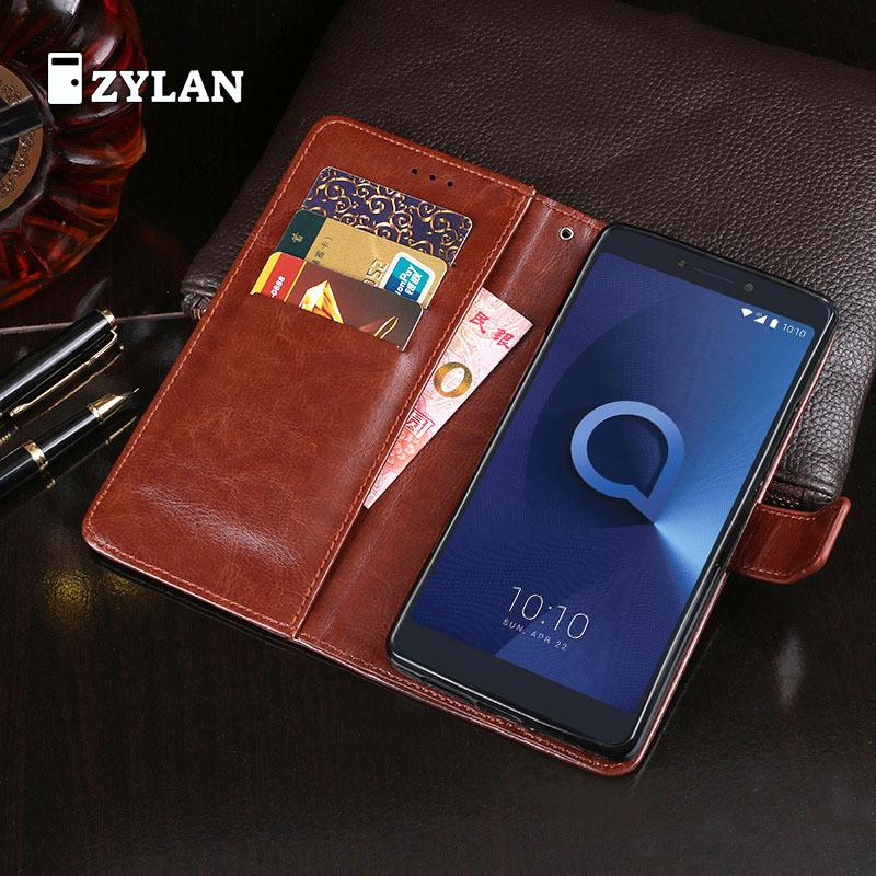 US $4 73 5% OFF|ZYLAN For Alcatel 3V Case Alkatel Flip Leather Phone Case  For Alcatel 3V 3 V 5099D Back Cover & FREE GIFT-in Flip Cases from