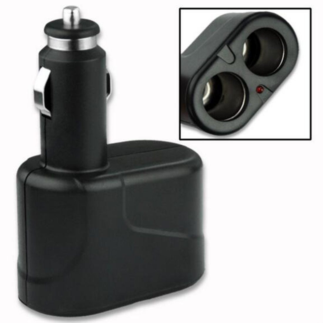 Dewtreetali High quality <font><b>Car</b></font> Accessories 2 Way DC <font><b>12V</b></font> <font><b>Car</b></font> Charger Cigarette Lighter Double <font><b>Power</b></font> <font><b>Adapter</b></font> Splitter Socket image