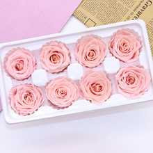 High Quality Preserved Flowers Immortal Rose 5CM diameter mothers day gift Eternal Life Flower Material gift box GPD8720