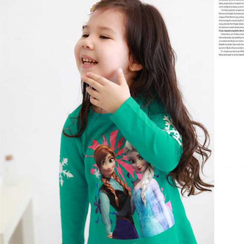 Girl Dress Reine Des Neige Elsa Cartoon Princess Baby Clothes Elza Children Costume Long Sleeve Winter Kids Frocks  Clothing