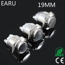 19mm Doorbell Bell Horn Push Button Switch Momentary Reset 1NO Waterproof Metal Brass Screw Feet Car Auto Engine PC Power Start