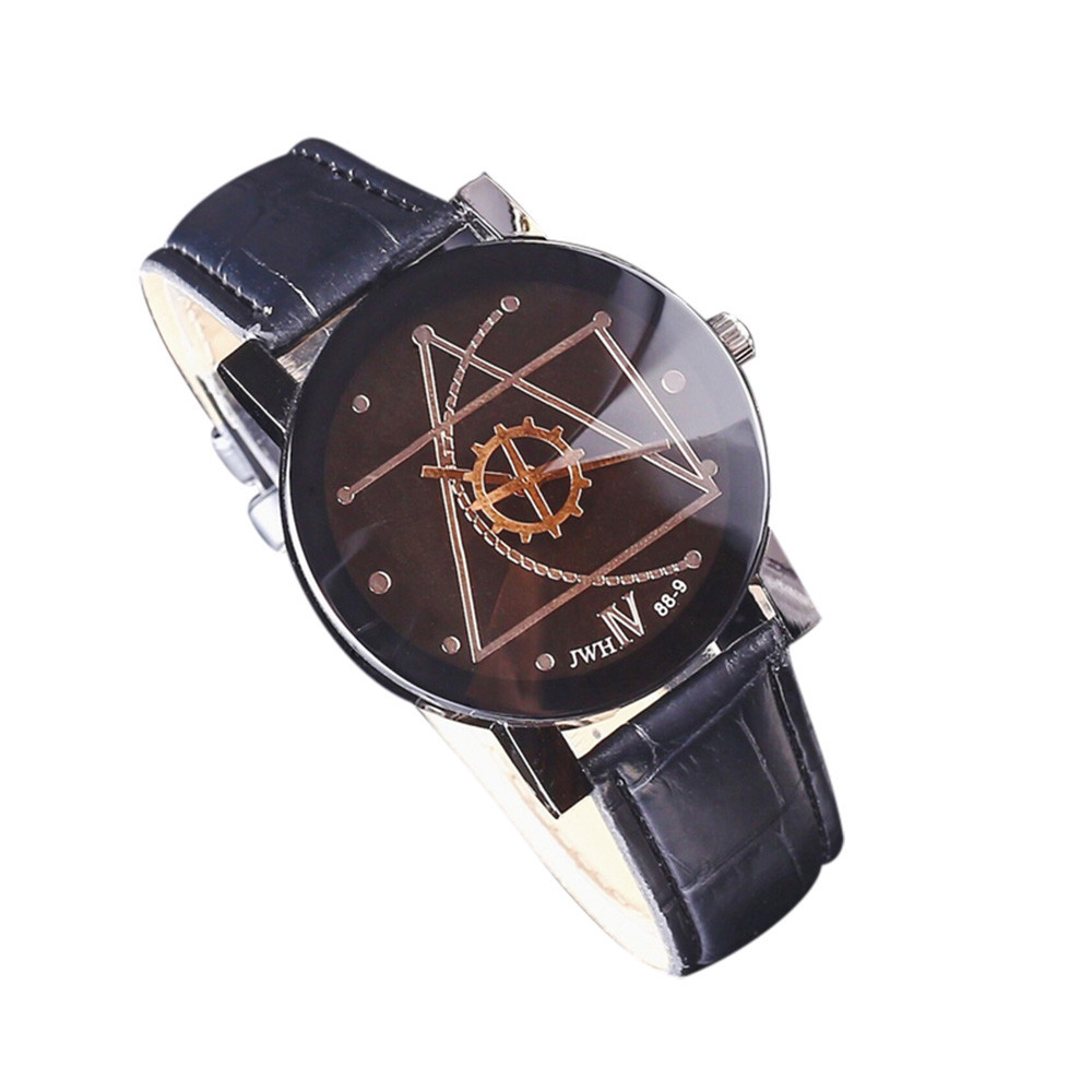 Gofuly New Business Watch Fashion Watch Man Leather Quartz Wrist Watch Orologio Uomo Lover's Quartz Watch 2020 High Quliaty Gift