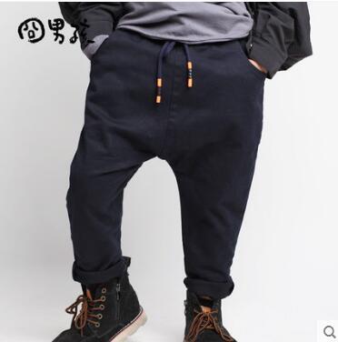 Leale Figlio Maschio Pantaloni Casual 2017 Autunno Abbigliamento Di Marca Per Bambini Sciolti Hip Hop Harem Pants Ragazzi Grandi Pantaloni Cavallo Dei Capretti Nuovo Pantaloni