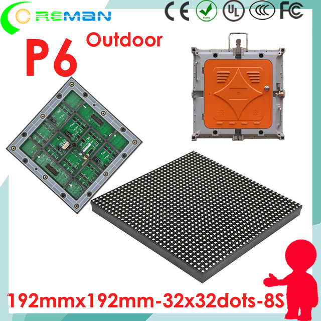 High quality Nationstar p6 outdoor led module smd3535 , high refresh rate p6 ph6 led matrix module 32x32 16x32 rgb smd3535