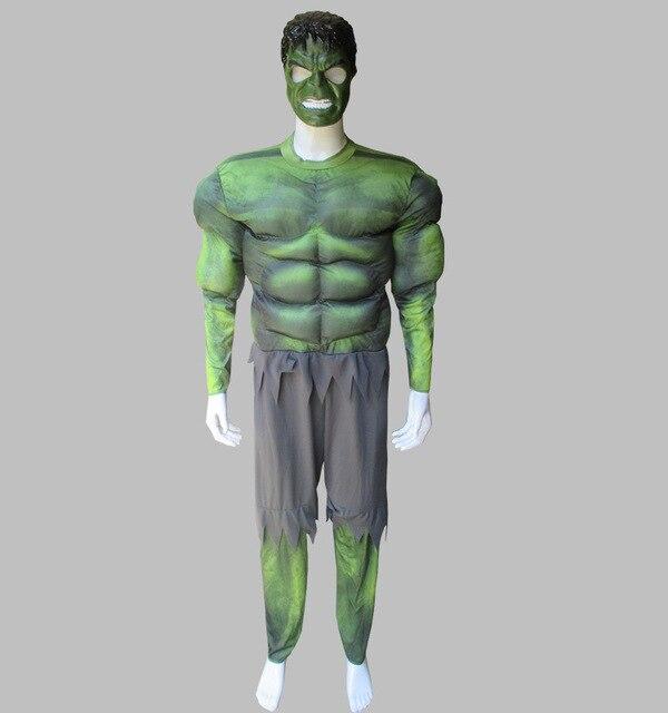 Hommes Hulk Cosplay Costume Adulte Avengers Halloween Captain America  muscle Superman SpiderMan Muscle Fantaisie Robe Cosplay 68eec4fce18