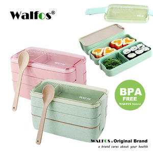 walfos Microwave Lunch Box Bento Box Food Container
