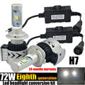 TAITIAN 72W 12000LM H7 LED Headlight Conversion Replce Bulbs Kit White Light 6500K