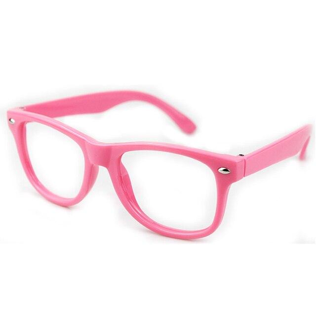 d55df5f820d09 Livraison gratuite unisexe bonbons couleur de bande dessinée mignon lunettes  rose monture de lunettes lunettes pour