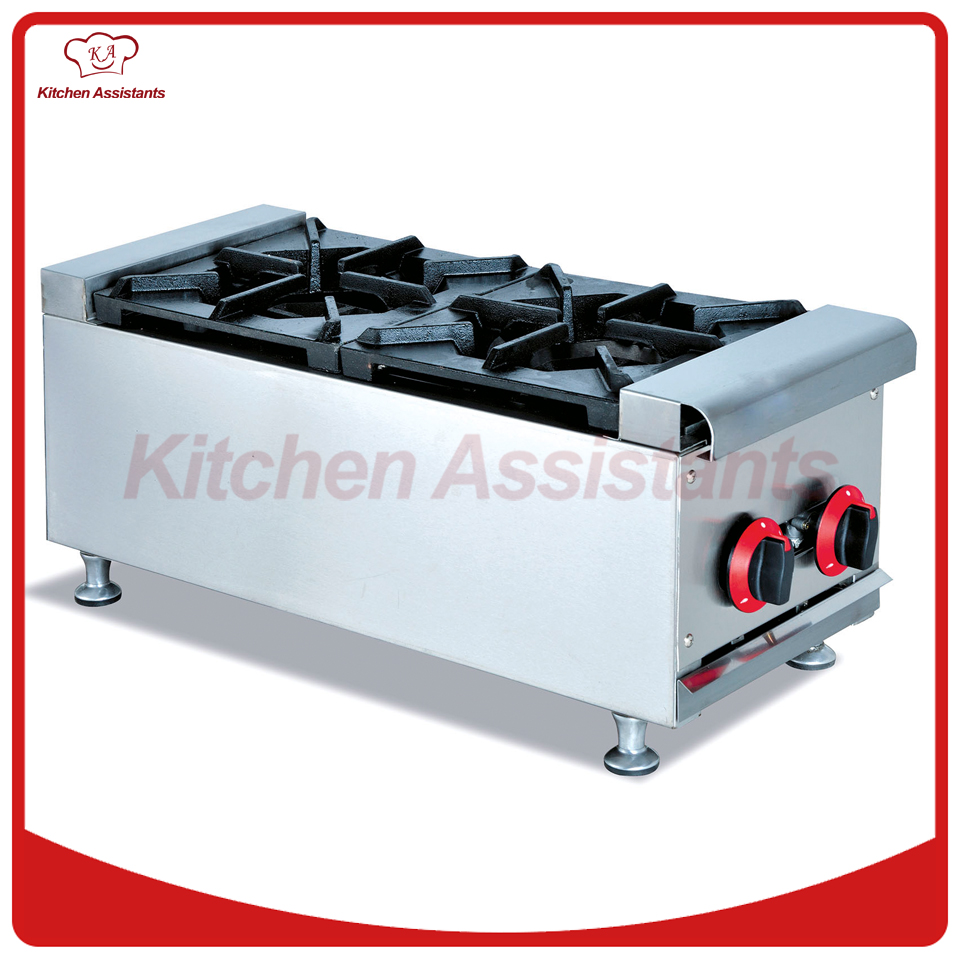 GH2 gas range with 2 burner for commercial use gh987 gas range with 4 burner with cabinet