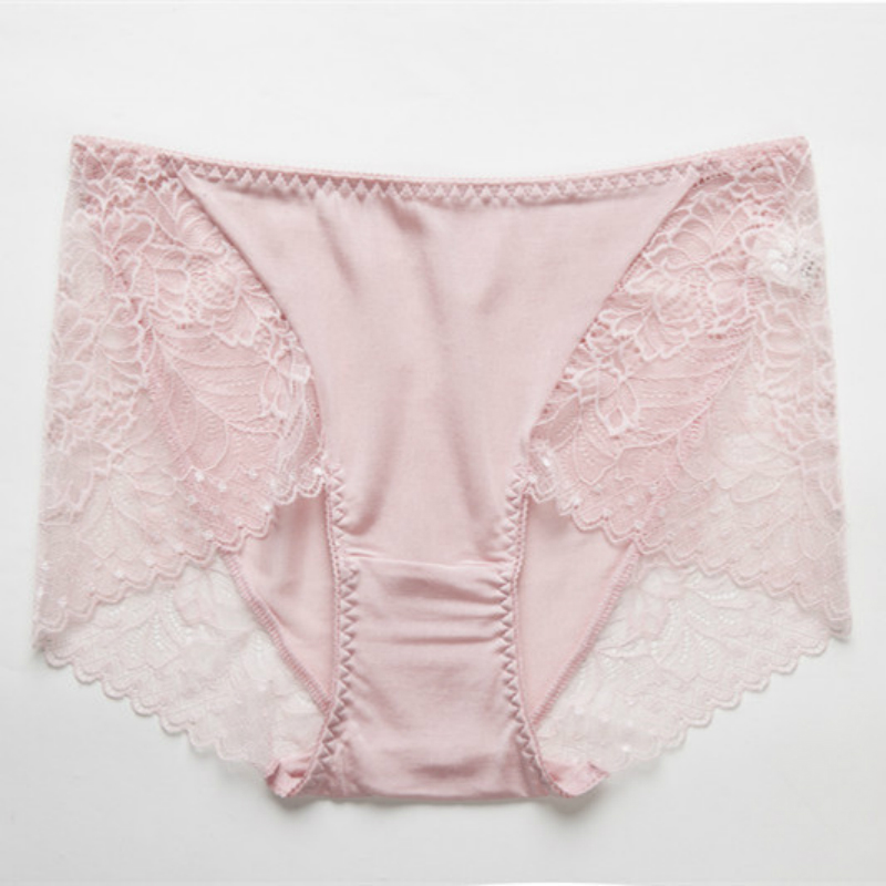 141ff0825f1 Good Plus Size Mulberry Silk Lace Sexy Panties underwear Women comfortable  Breathable Seamless Transparent Lingerie