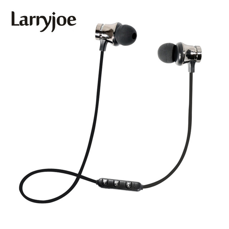 Larryjoe Wireless Bluetooth Earphone Magnetic Headphones XT-11 Sports Headset Stereo Bass Music Earpieces with Mic Headset magnetic attraction bluetooth earphone headset waterproof sports 4.2