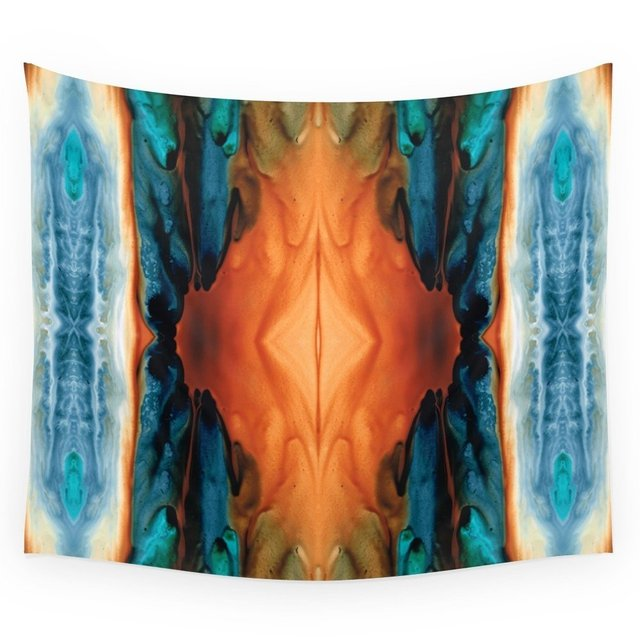 The Great Spirit - Abstract Art By Sharon Cummings Wall Tapestry Wedding Party Gift Bedspread Beach Towel Yoga Picnic Mat