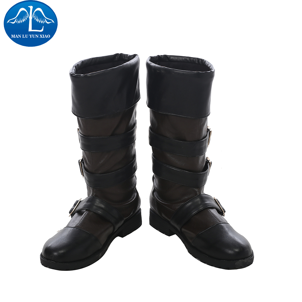 MANLUYUNXIAO New Arrival Men's NieR:Automata Cosplay Costume YoRHa No. 9 Type S Cosplay Boots For Men