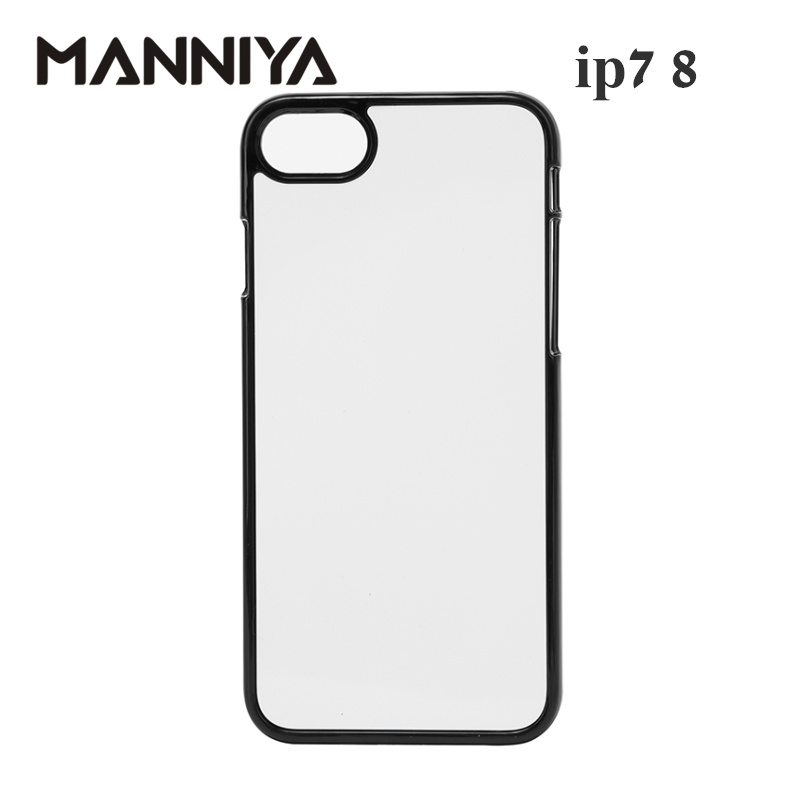 MANNIYA 2D Sublimation Blank Hard Plastic phone Case for iphone 7 8 with Aluminum Inserts and