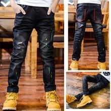 Модная одежда для мальчиков diimuu брюки карандаш джинсы из