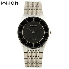Sra. Sencilla ocio y negocio relojes WILON acero inoxidable fina internacional marca de relojes señoras reloj de cuarzo elegante reloj