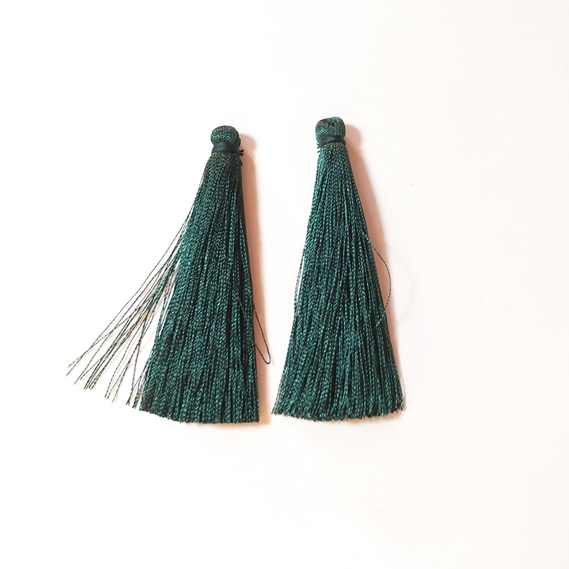 New Fashion 10 Pieces 67mm Colorful Silk Tassels Charms Pendants for DIY Earring Jewelry Making Accessories PJ535 in Jewelry Findings Components from Jewelry Accessories