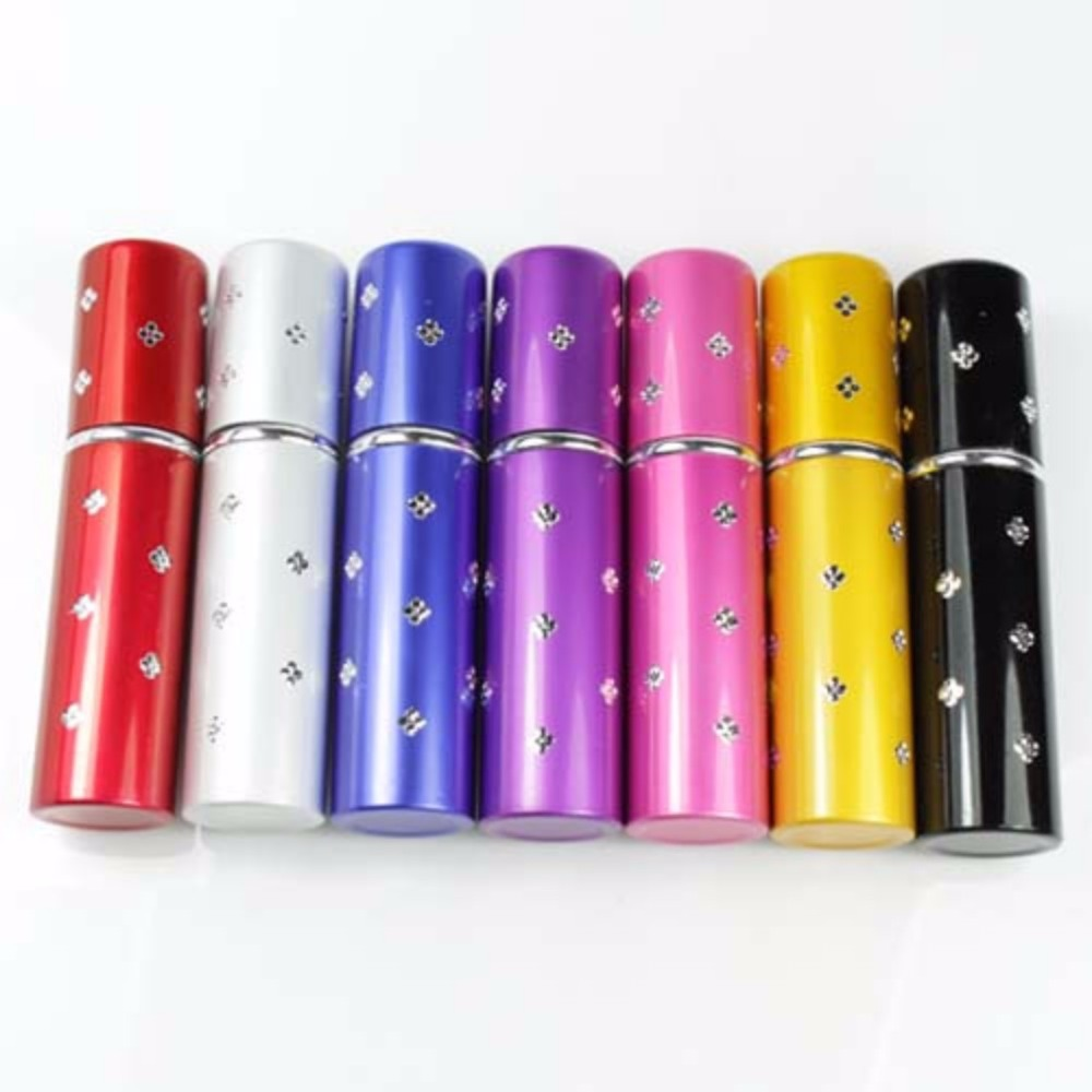 Refillable Easy Fill Travel Perfume Atomizer Pump Spray Bottle Pocket 7 Colors
