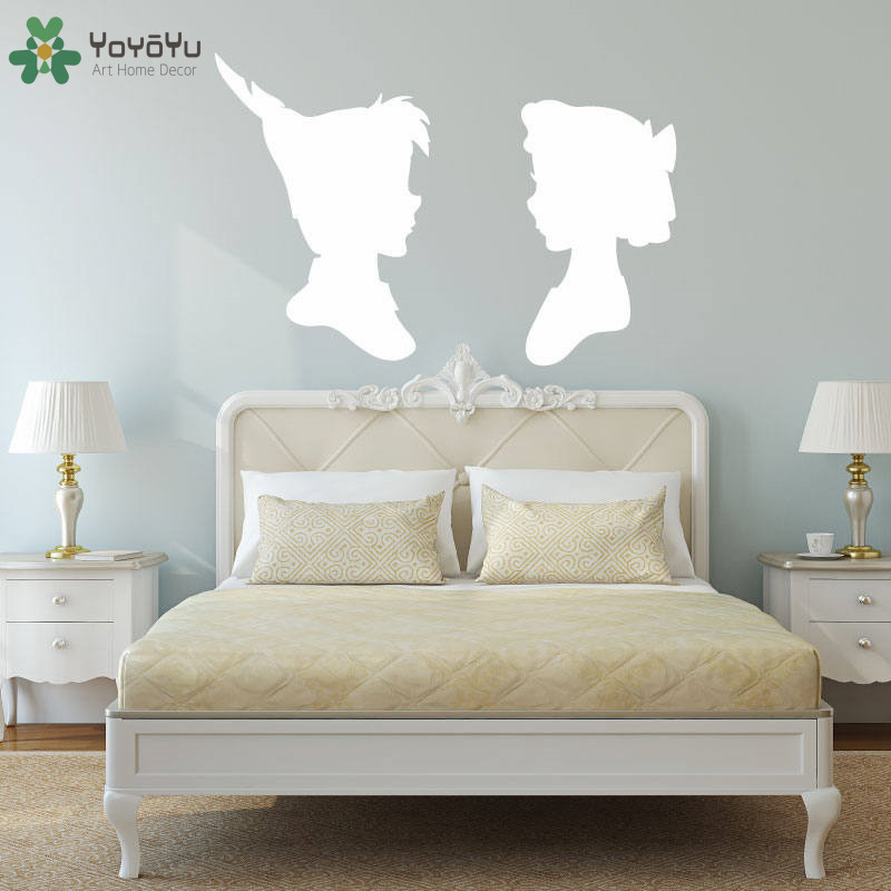 Peter Pan Wendy Sillouette Wall Decal Master Bedroom Vinyl Wall ...