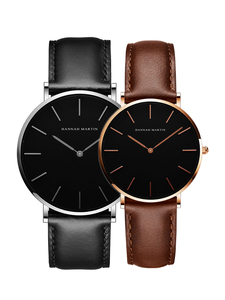 Image 3 - 2pcs/ set Japan Movement Leather Strap Casual Fashion Women Top Brand Luxury Waterproof For Couple Watches relogio feminino