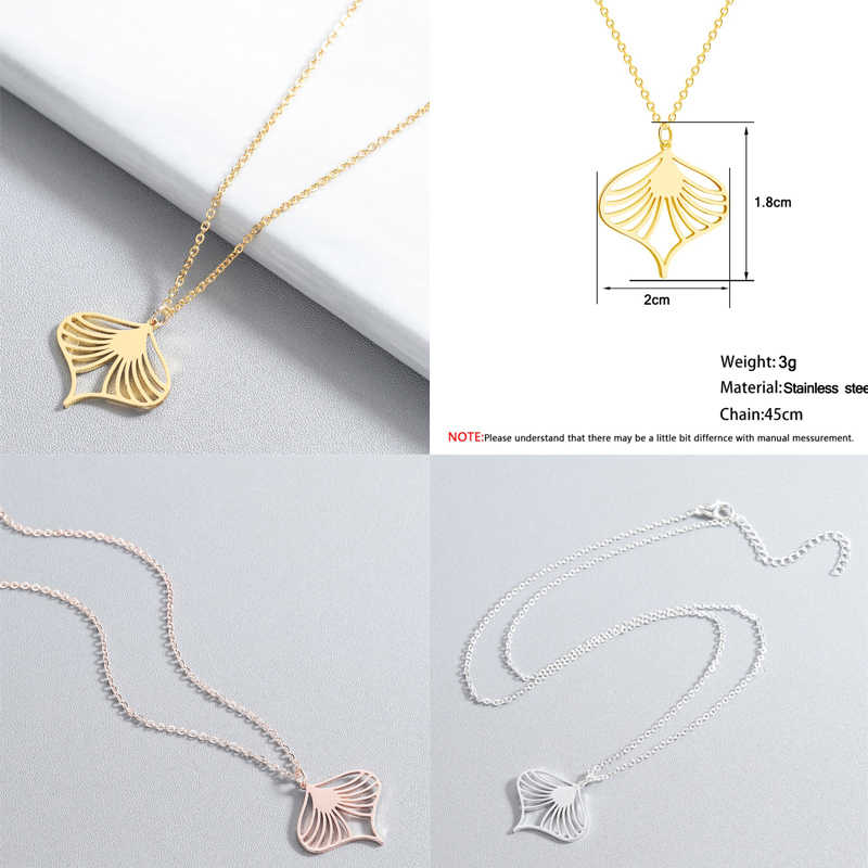 Chandler Origami Animal Necklaces Stainless Steel Flamingo Phoenix Bird Chain Necklace For Girl Wolf Butterfly Geometry Chocker