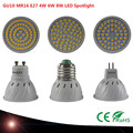 1PCS High quality chip LED bulb E27 GU10 MR16 4W 6W 8W 48LEDS 60LEDS 80LEDS 220V 230V  Led Spotlights Warm/Cool White  LED lamp