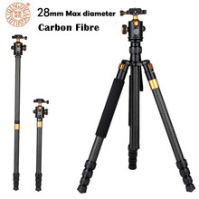 Professional Carbon Fiber Tripod QZSD Q1088C Monopod With Ball Head For DSLR Camera / Portable Travel Camera Tripod Stand
