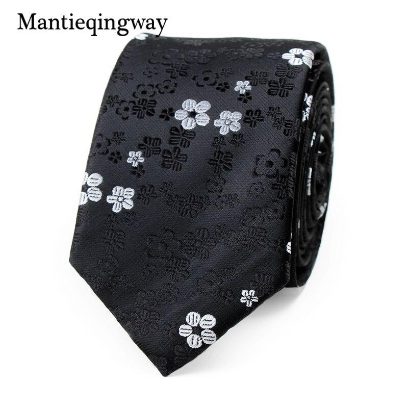 Mantieqingway 6 Cm Freizeit Krawatte Hochzeit Krawatten Für Männer Striped Floral Polyester Hals Binden Gravata Schwarz Schlank Vestidos Cravats Krawatte Bekleidung Zubehör
