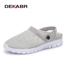 DEKABR Fashion Men Summer Cool Slippers Shoes Breathable Mesh Beach Sandals Adults Unisex Shoes Casual Flip Sandals Footwear