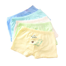цены 6 Pcs/lot Cotton Cartoon Animals Kids Boys Underwear Summer Soft Breathable Baby Boxer Children's Underpants for Teenager 2-12Y