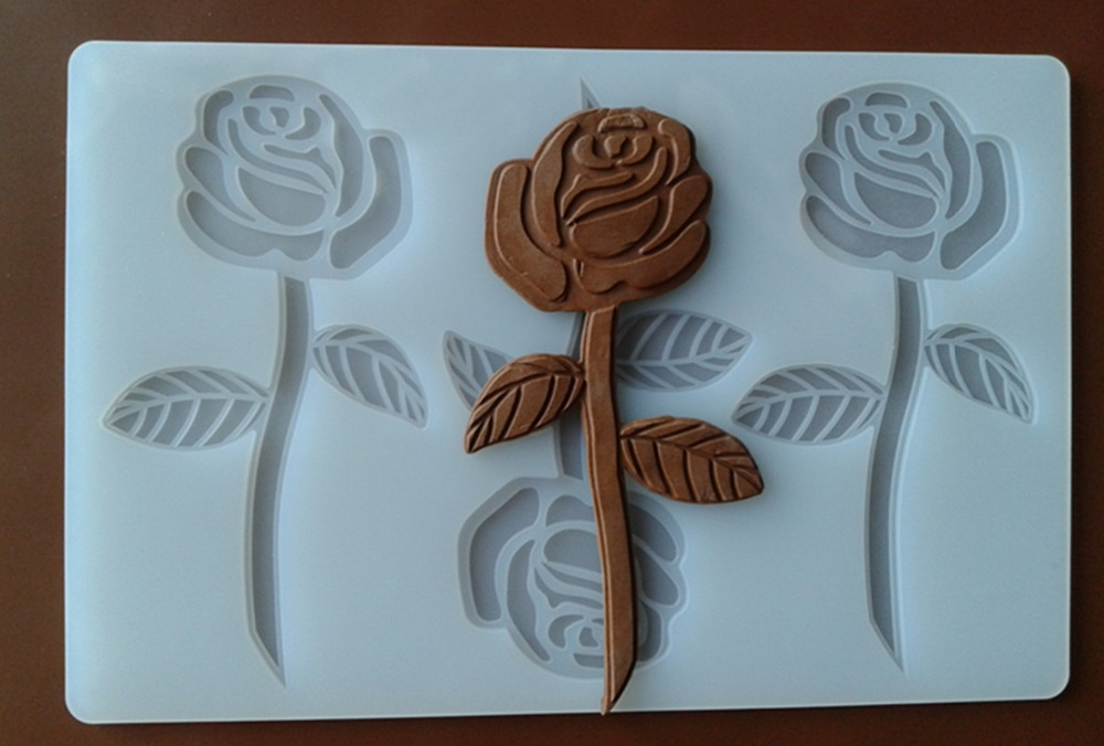 FXC001 Rose Flower Silicone Chocolate Mold Chocolate Chip Card Cake Decoration Mold