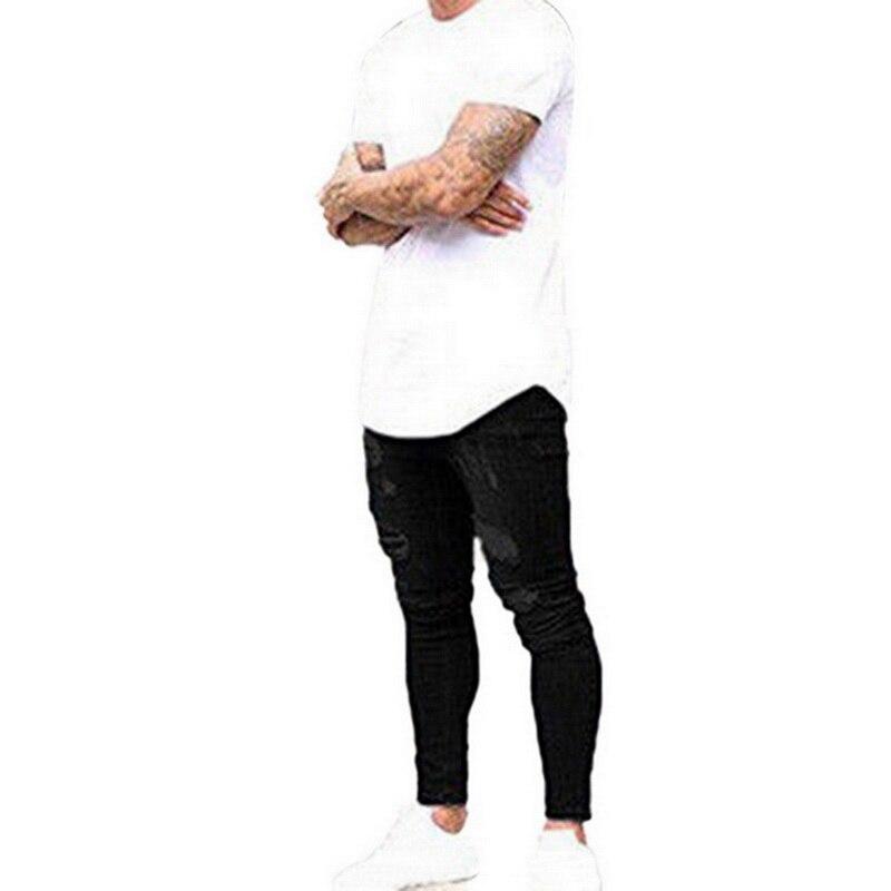 NIBESSER, мужские брендовые обтягивающие джинсы, брюки, повседневные брюки,, джинсовые черные джинсы, homme, Стрейчевые узкие брюки размера плюс, уличная одежда 3XL - Цвет: black4