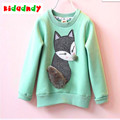 Girls long-sleeved T-shirt unlined upper garment render more medium and small children long sleeve baby fleece and wool LMY008