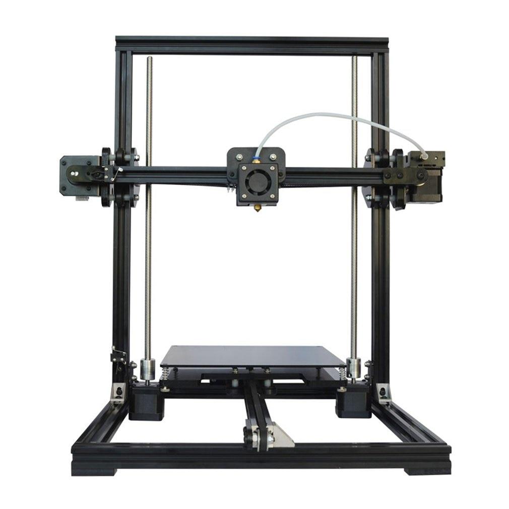 Tronxy En Aluminium Profil D'extrusion 3D Imprimante Kit 3D Impression LCD Écran En Plastique Roue Automatique Nivellement X3A UE Plug