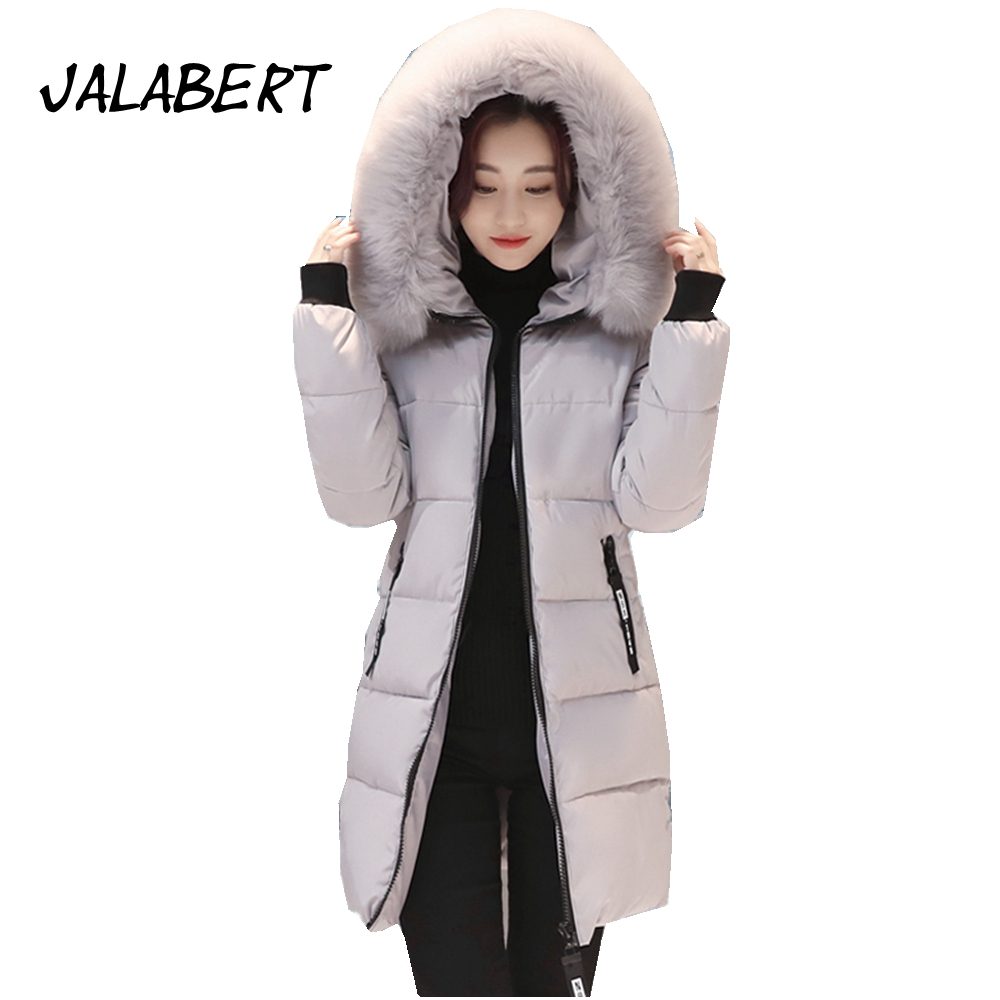 2017 new winter women hooded long big fur collar slim full cotton jacket female thicker epaulet solid warm parkas coat women winter coat leisure big yards hooded fur collar jacket thick warm cotton parkas new style female students overcoat ok238