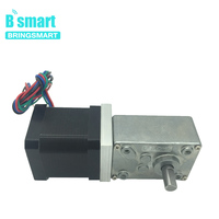 Bringsmart 12V DC Stepping Geared Motors 24Volt DC Worm Stepper Gear Motor Reduction Motor Self locking Mini Gearbox A58SW 42BY